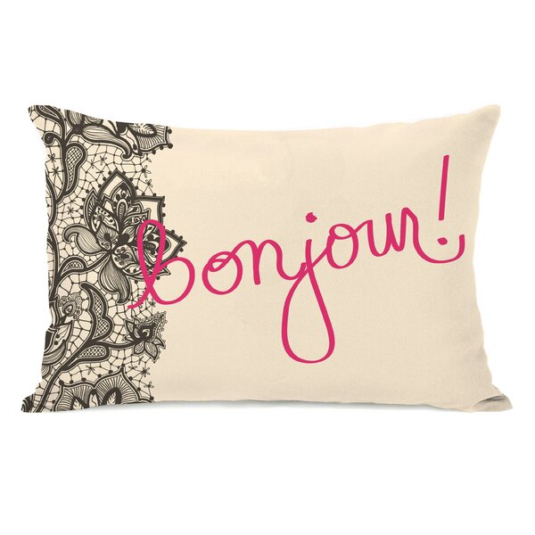 Bonjour Lace Lumbar Pillow by One Bella Casa