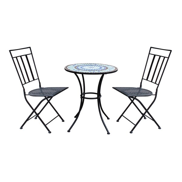 Gibbs Patio 3 Piece Bistro Set by August Grove