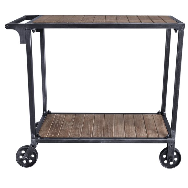 Gonzales Kitchen Cart with Manufactured Wood Top by Williston Forge