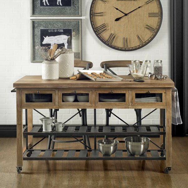 Bonifacio Kitchen Cart by Gracie Oaks