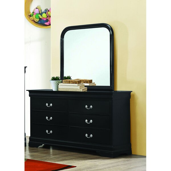 Daniyal 6 Drawer Double Dresser with Mirror by Red Barrel Studio