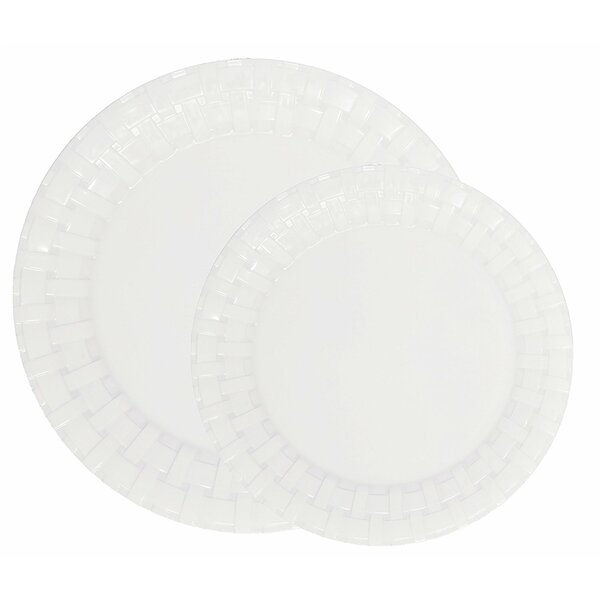 Engel Weave 50 Piece Melamine Dinnerware Set Service for 25 by Winston Porter