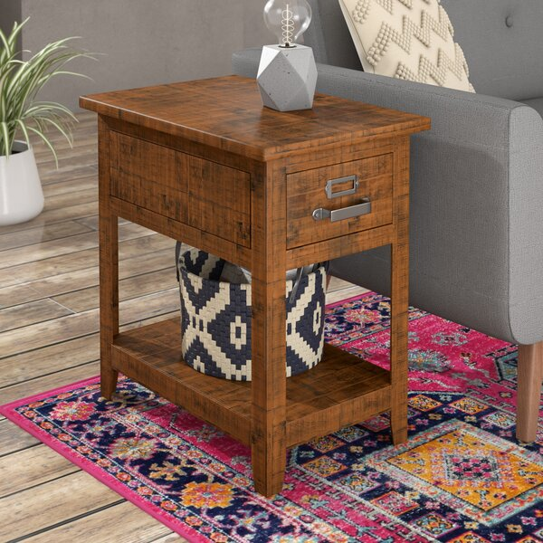 Tuntange End Table With Storage by Mistana