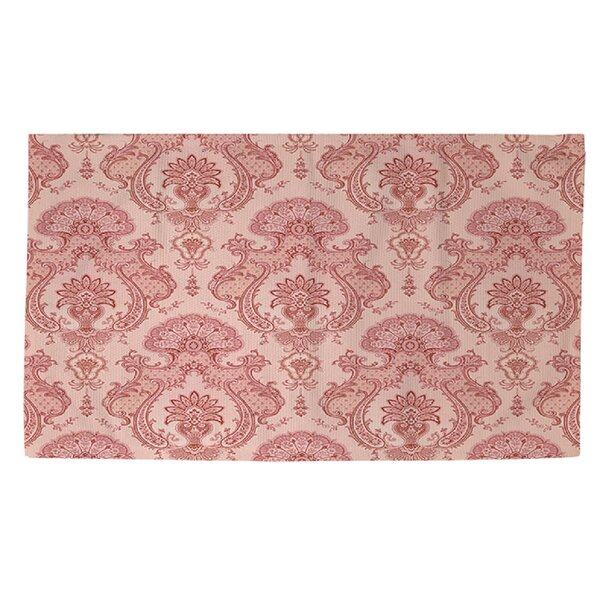 Damask Pattern Pink Area Rug by Manual Woodworkers & Weavers