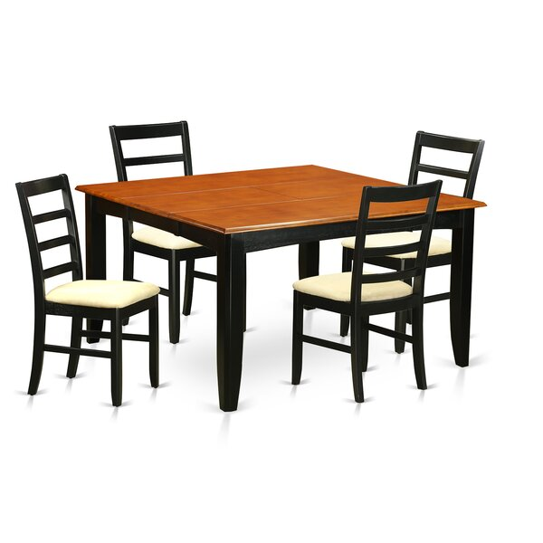 Parfait 5 Piece Extendable Dining Set by Wooden Importers