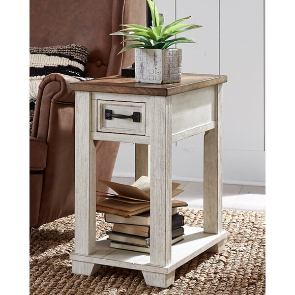 1 Drawer End Table with Storage by Rosalind Wheeler Rosalind Wheeler