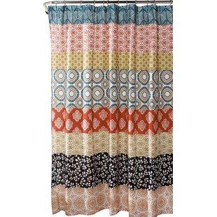 Affordable Vincent Stripe Shower Curtain ByWorld Menagerie