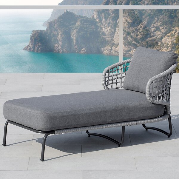 Indiana Chaise Lounge with Cushion by Ove Decors