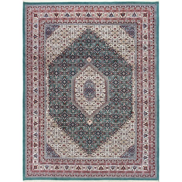 One-of-a-Kind Plante Hand-Woven Wool Green/Ivory Area Rug by Astoria Grand