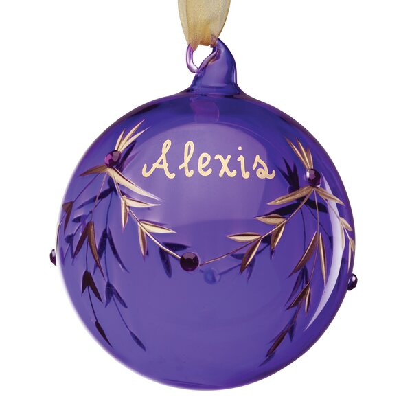 February Birthstone Personalized Ball Ornament by The Holiday Aisle