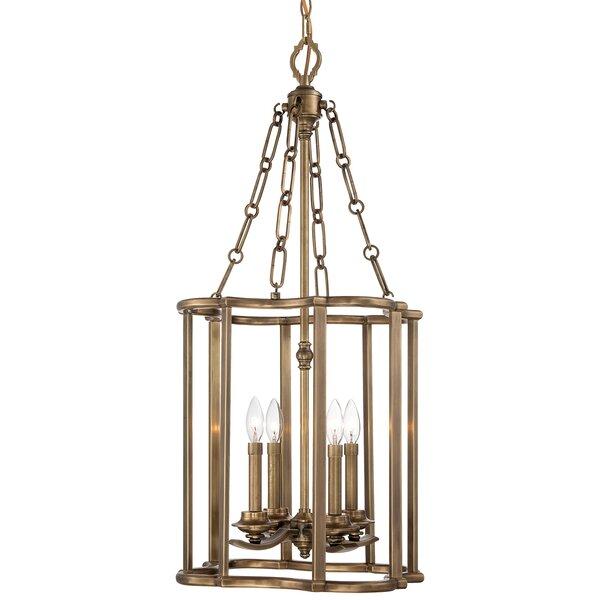 Leicester 4 - Light Lantern Rectangle Chandelier by Metropolitan by Minka Metropolitan by Minka
