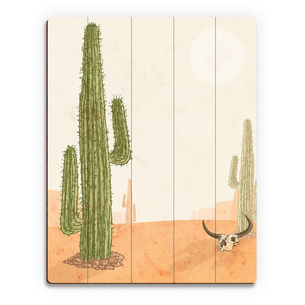 Southwestern Land Graphic Art on Plaque by Click Wall Art