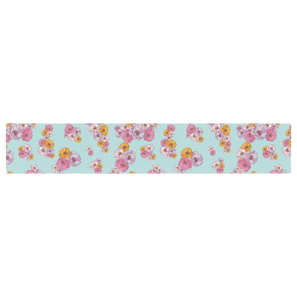 Laura Escalante Paper Flower Table Runner by East Urban Home