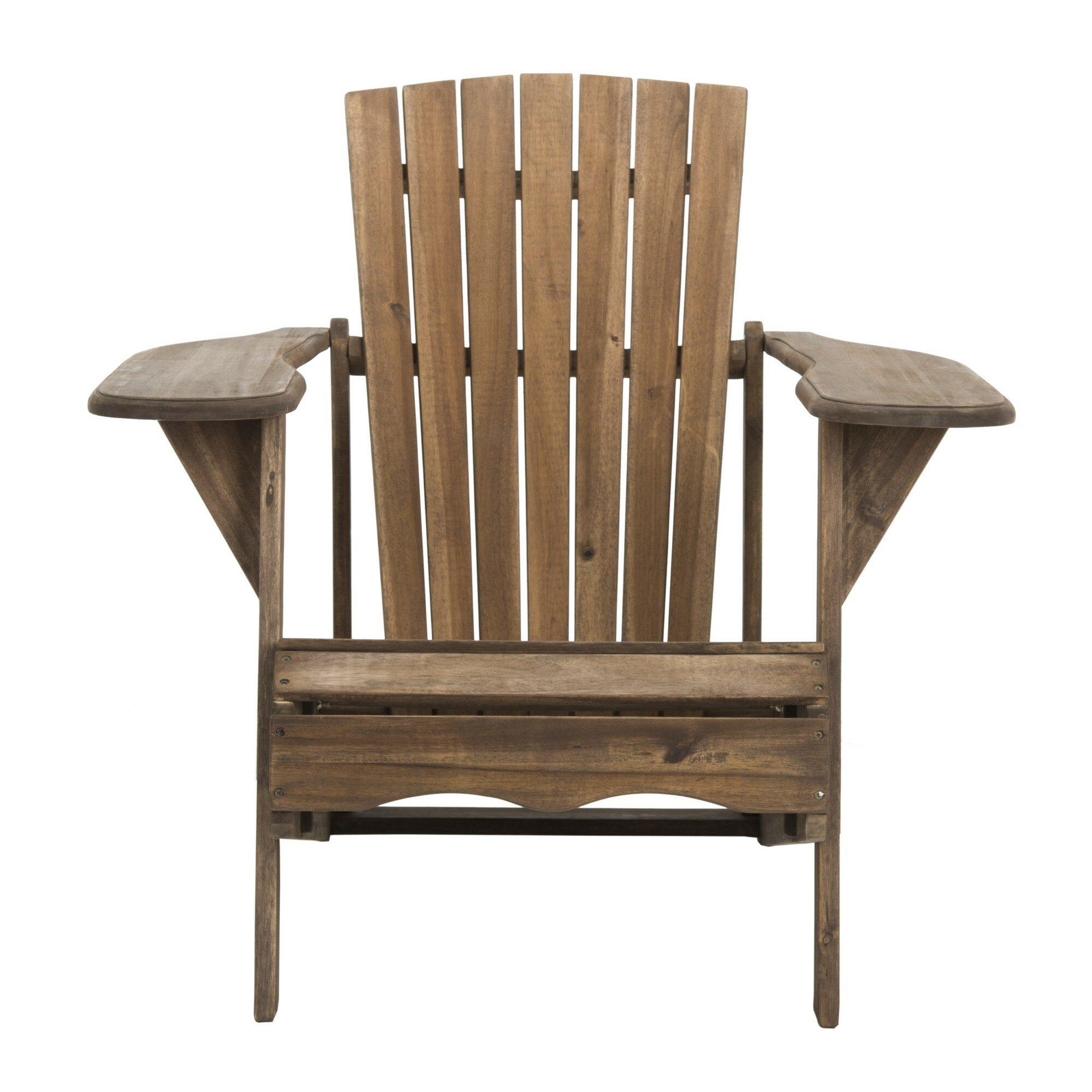 Gracie Oaks Willingboro Solid Wood Adirondack Chair U0026 Reviews   Wayfair