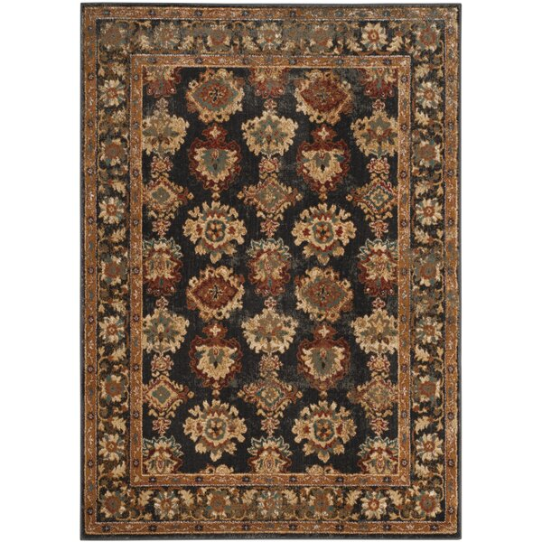 LoweBrown/Black Area Rug by Charlton Home
