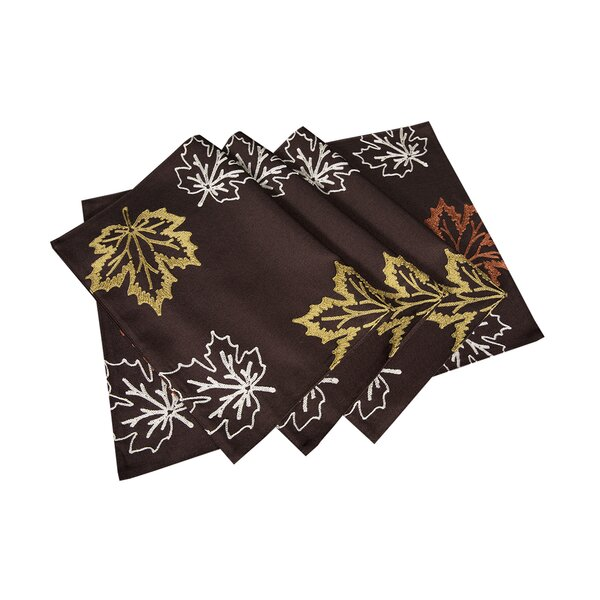 Dresden Embroidered Fall Placemat (Set of 4) by Red Barrel Studio