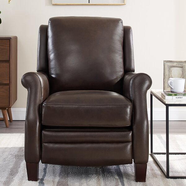 Yearby Premium Leather Manual Recliner [Red Barrel Studio]