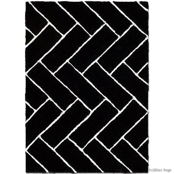 Hand-Tufted Black Area Rug by AllStar Rugs