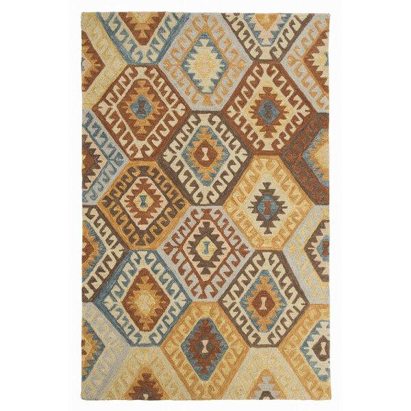 Pinchot Hand-Tufted Wool Blue/Brown Area Rug by Loon Peak