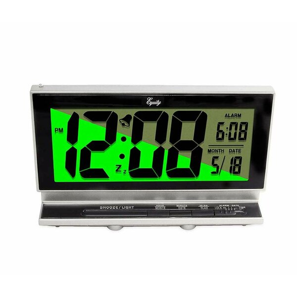 Smartlight Large Digit LCD Tabletop Clock by Wind & Weather