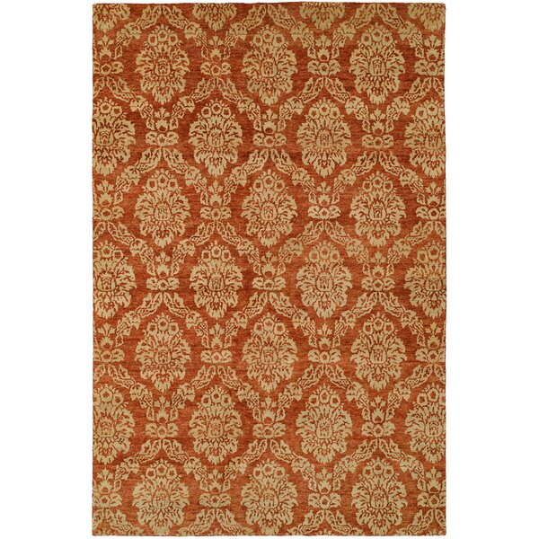 Surrey Hand-Knotted Beige/Red Area Rug by Wildon Home ®