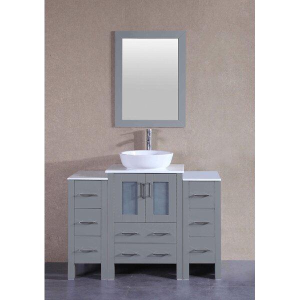 Briella 48 Single Bathroom Vanity Set with Mirror by Bosconi