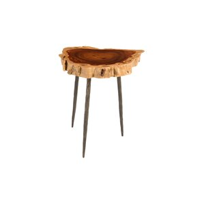 Makha Burled Wood End Table by Phillips Collection