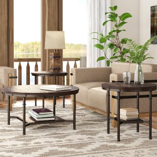 Croley 3 Piece Coffee Table Set Loon Peak