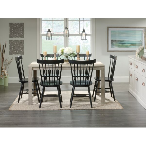 Brixton 7 Piece Solid Wood Dining Set by Highland Dunes
