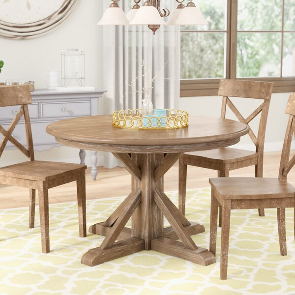 Nuneaton Solid Wood Dining Table by Three Posts