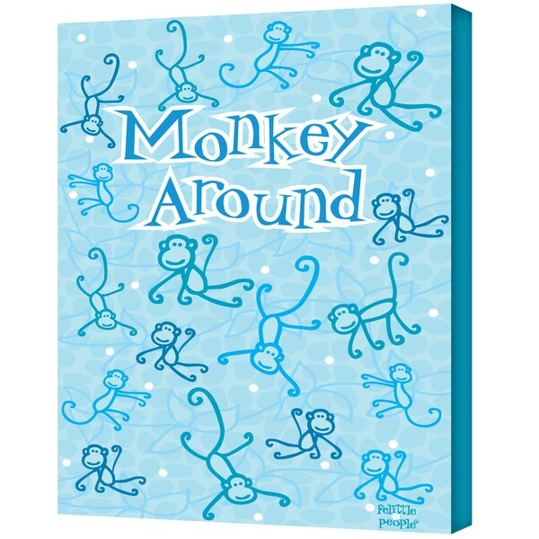 Felittle People ''Monkey Around'' Canvas Art by ArtWall