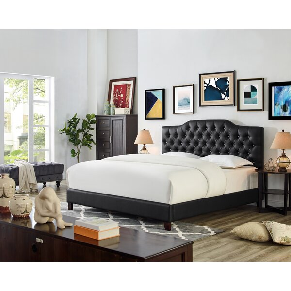 Lorenz Upholstered Standard Bed by Alcott Hill