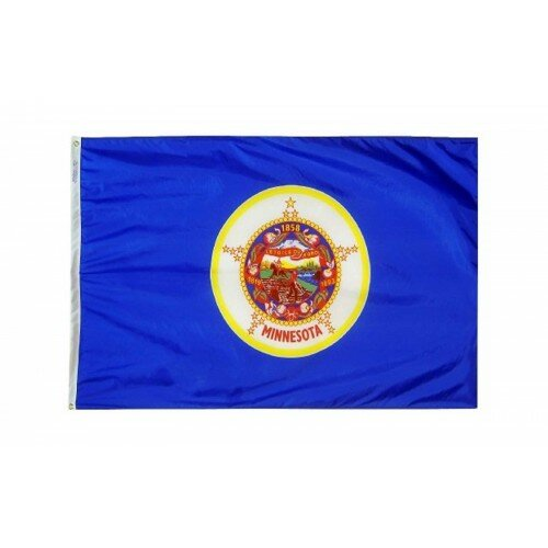 Minnesota Glo Traditional Flag by NeoPlex