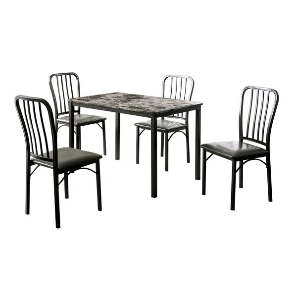 Powers 5 Piece Dining Set by Ebern Designs Ebern Designs