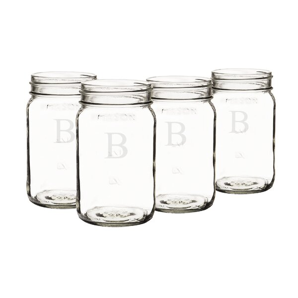 Personalized Mason Jar (Set of 4) by Cathys Concepts