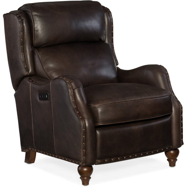 Tutor Leather Power Recliner by Hooker Furniture