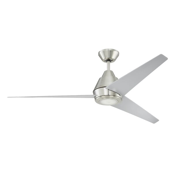 56 Pal 3 Blades LED Ceiling Fan with Remote by Orren Ellis