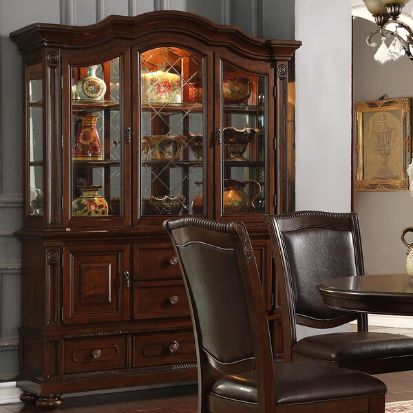 Perine Lighted China Cabinet by Alcott Hill
