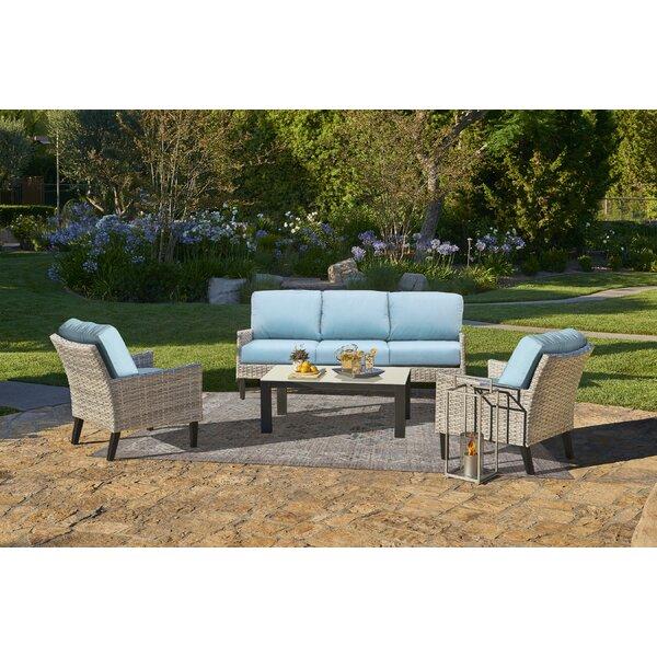 Macklin Deep Seating Group with Sunbrella Cushions by Ebern Designs