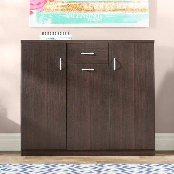 Wood 30-Pair Shoe Storage Cabinet by Willa Arlo Interiors