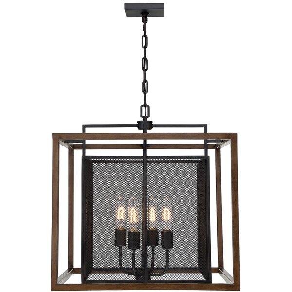 Minor 4-Light Unique / Statement Rectangle / Square Chandelier by Union Rustic Union Rustic