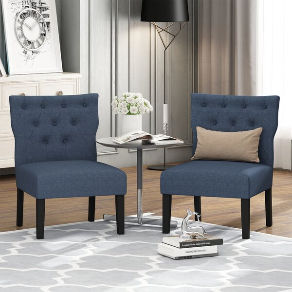 Chenley Button Tufted Back Side Chair (Set of 2) by Charlton Home