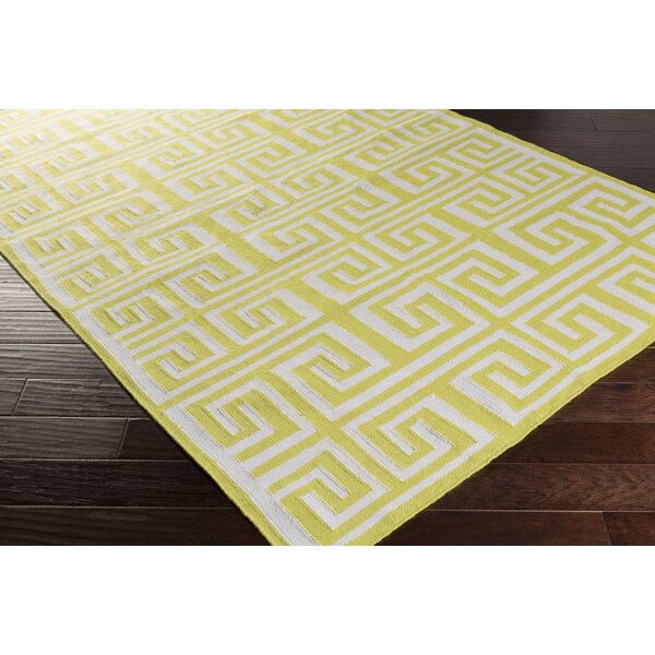 Larksville Lime/Ivory Indoor/Outdoor Area Rug by Charlton Home