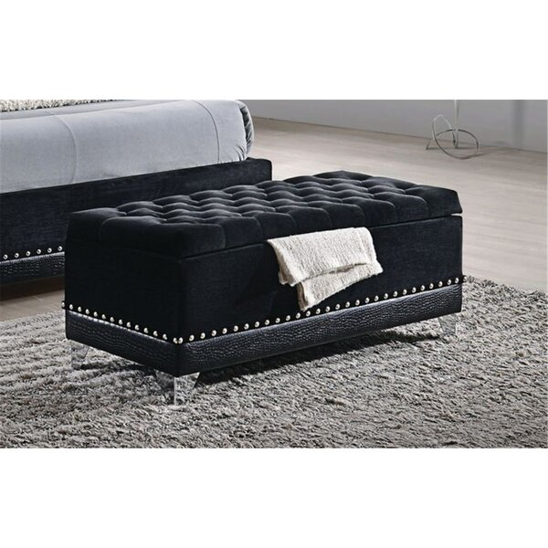 McManus Upholstered Fliptop Storage Bench by Rosdorf Park