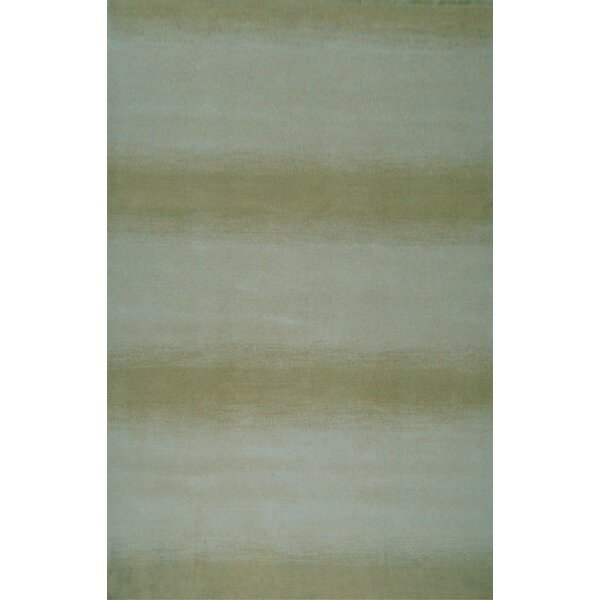 Mystic Hand-Knotted Aqua/Green Area Rug by Red Barrel Studio