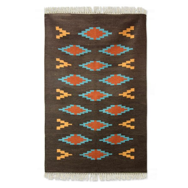 Hand-Woven Gray Area Rug by Novica