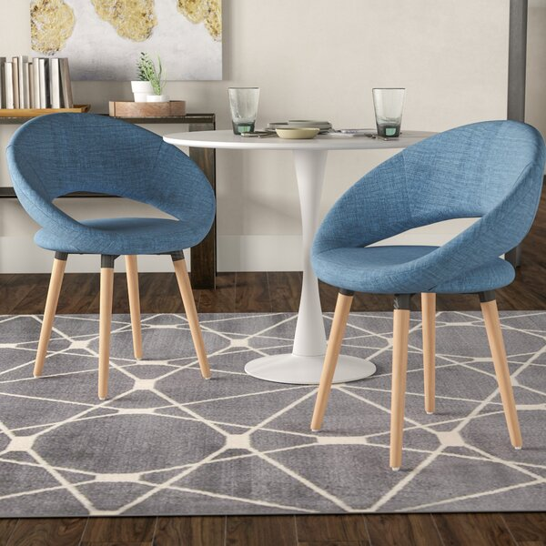 Glastonbury Fabric Modern Upholstered Dining Chair (Set of 2) by George Oliver George Oliver