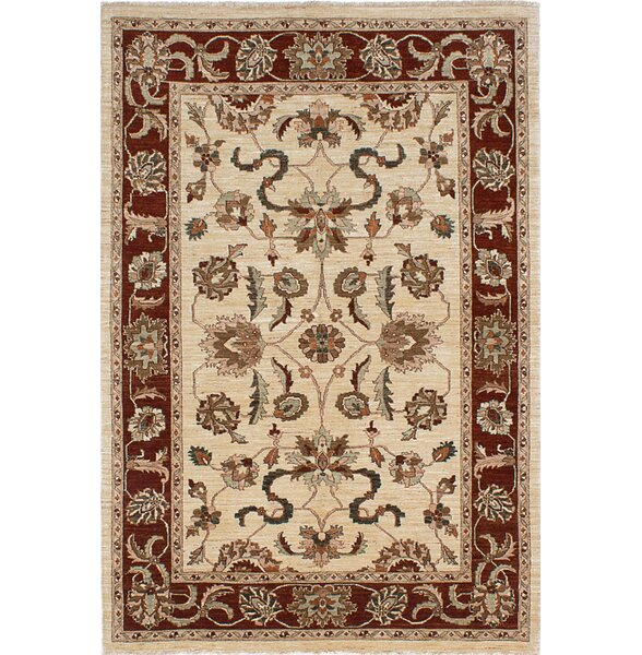 One-of-a-Kind Charlena Hand-Knotted Cream Area Rug by Darby Home Co