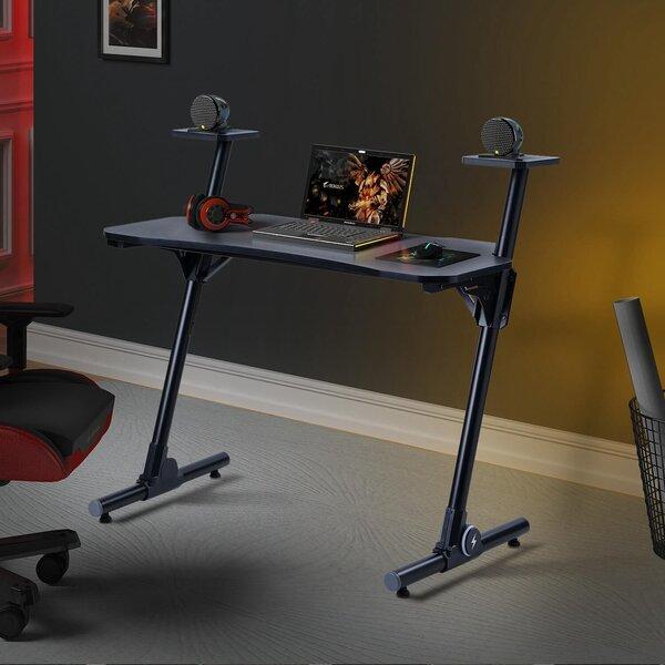 Home Office Z-Shaped Workstation Desk