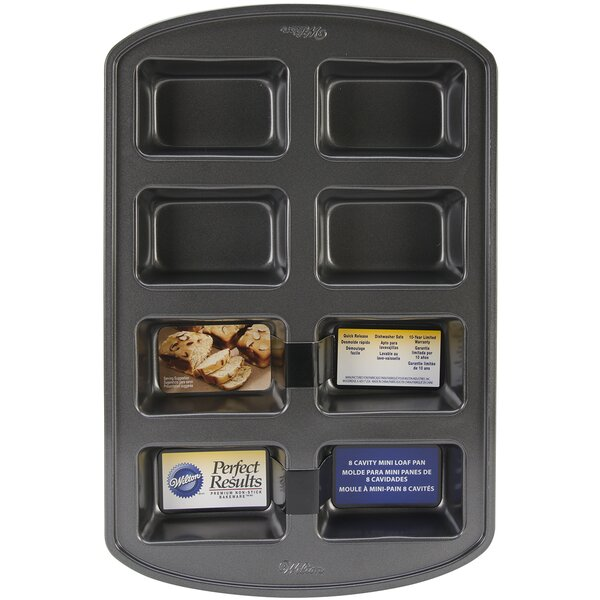 Non-Stick 8 Cavity Loaf Pan by Wilton